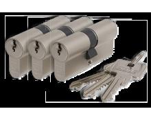 Abus E60 Doppelzylinder Satz SKG2 Gleichschließend (3x)